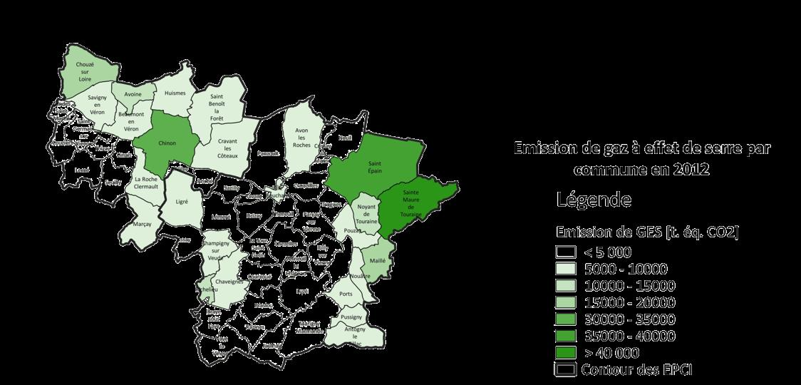 Cartographie des émissions du communauté de communes accompagnée par ENERGIO