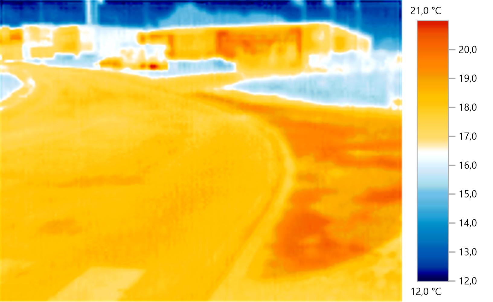 Photo thermo de l'axe routier